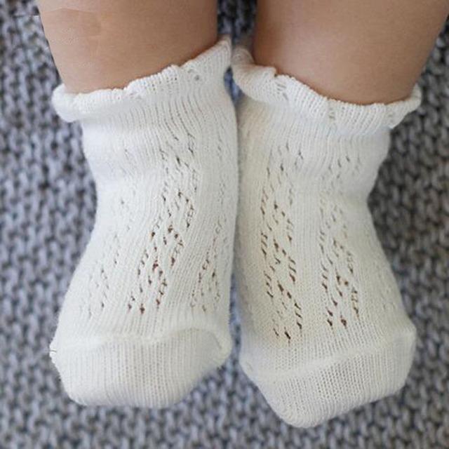 2016 новый летний девочка носки мягкий хлопок сетки анти-слип детей носки пят Calcetines ...