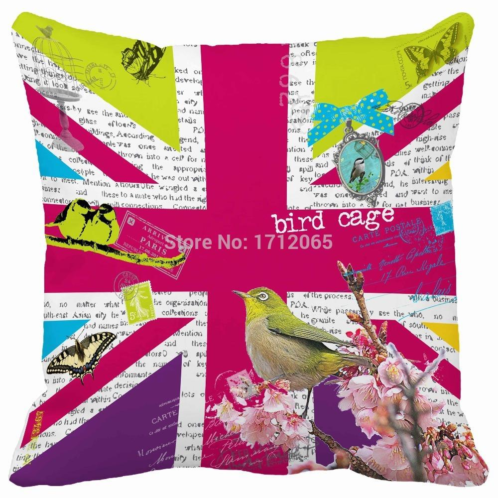 Pink british flag union jack creative decorations spring for Quality home decor
