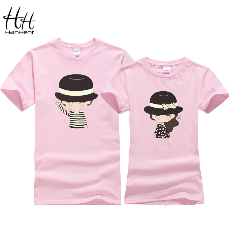 Fashion couple t shirt tops for 2015 lovers summer girl and boy cotton t-shirt casual clothes For Lover's Clothing TA0241(China (Mainland))