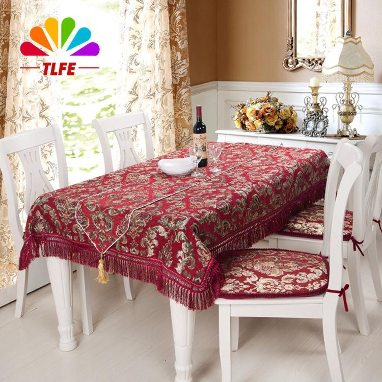 TLFE High-end Home&Garden Europe Handmade Embroidery Table Cloth Rectangular Home Textile Tablecloth toalhas de mesa ZB020(China (Mainland))