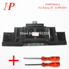 "Original New Qaulity A1494 Rechargeable Battery For Macbook Pro Retina 15"" A1398 Battery 2013 11.26V 95Wh With Screwdriver"