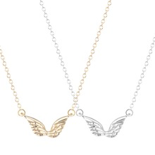Hot Sale 10pcs Wholesale Unique Angel Wings Necklace for Women and Girls Fashion Jewelry Gift(China (Mainland))