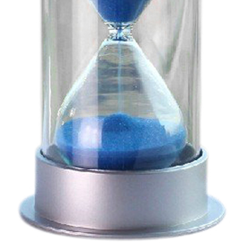 JFBL Hot sale Plastic Crystal Sandglass 10 Minutes Sand Clock Decoration Sandglass Timer blue(China (Mainland))