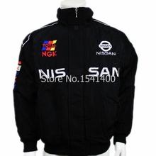 Traje de carreras de F1 Nissan acolchada chaqueta bordada de manga larga LOGO chaqueta a prueba de viento escudo del algodón del hombre macho F1 sport jersey(China (Mainland))