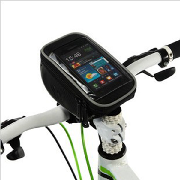 Various Phones with Touchable Screen Bike Phone Bag Cycling Bike Bicycle cycle Bag Bike Accessories Frame Tube Bag(China (Mainland))