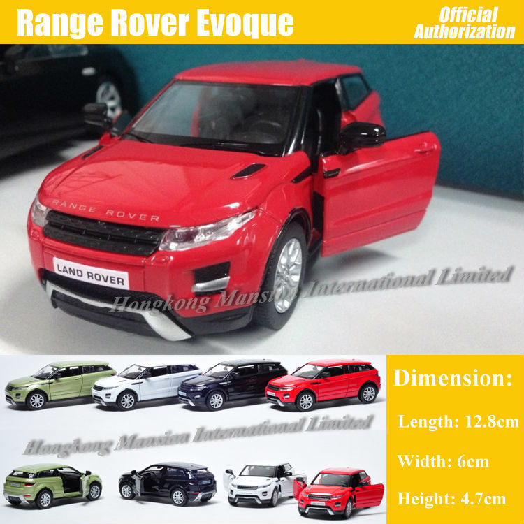 1:36 Scale Diecast Metal Alloy Car Model For Range Rover Evoque Collection Model Pull Back Toys Car - Red/ White/ Black/ Green(China (Mainland))