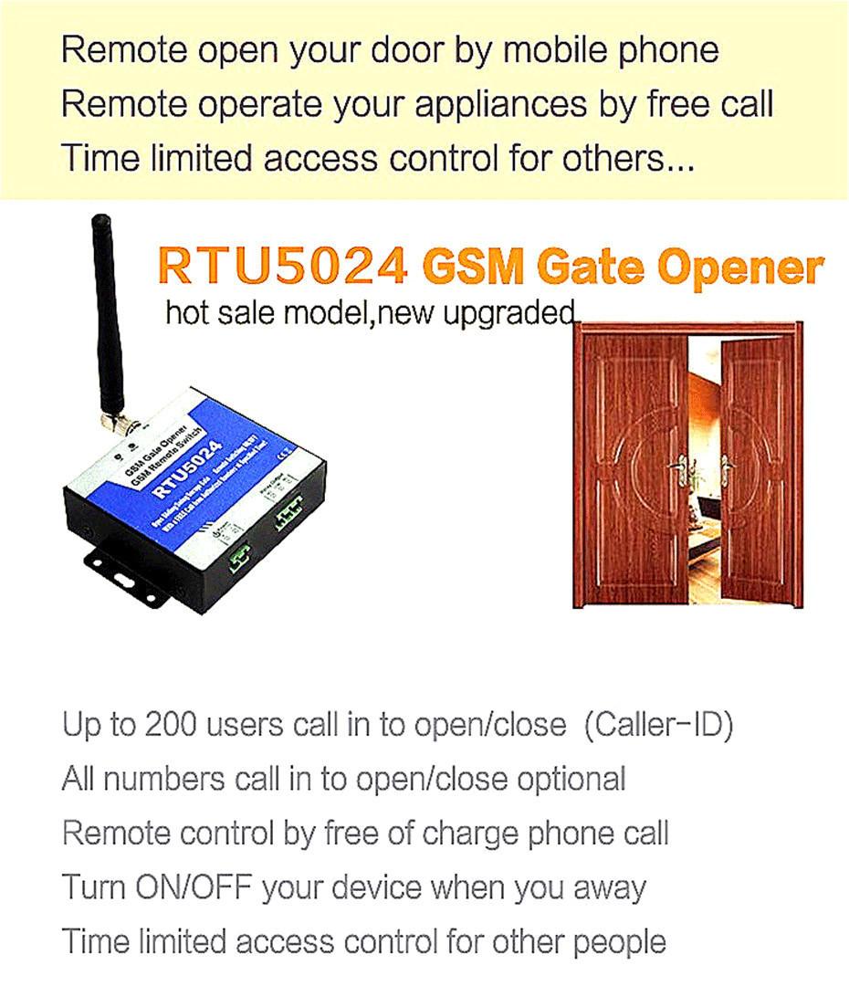 Купить GSM Gate Opener Реле Переключатель Дистанционного Контроля Доступа Беспроводной Дверной Замок, Звонок Бесплатный Кинг RTU5024