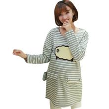 Winter Warm Nursing Top Clothes for Pregnant Women Maternity T shirts Blouse Pregnancy Shirt Plus Velvet Breastfeeding Tops(China (Mainland))