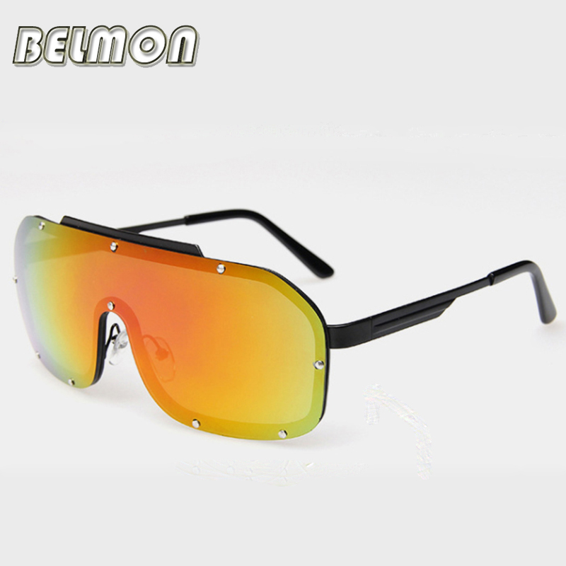 2016 Fashion Sunglasses Women Men Luxury Brand Designer Siamese Sun Glasses For Male Ladies UV400 Mirror Female Oculos RS203(China (Mainland))
