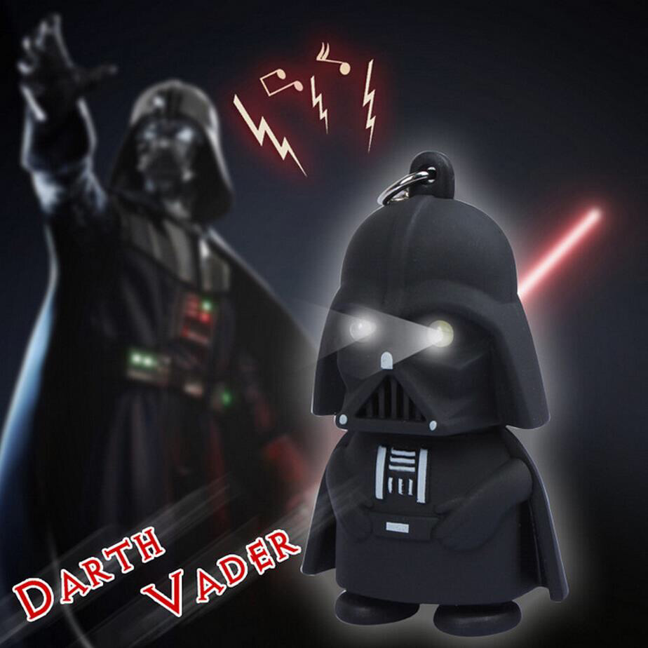 2016Wars Darth Vinda doll Star LED keychain with sound light adults, and children patrulla canina toys Puppets Black anime(China (Mainland))