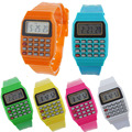 Boy and girl children watch live operations necessary Unsex Silicone Multi Purpose Date Time Electronic Wrist