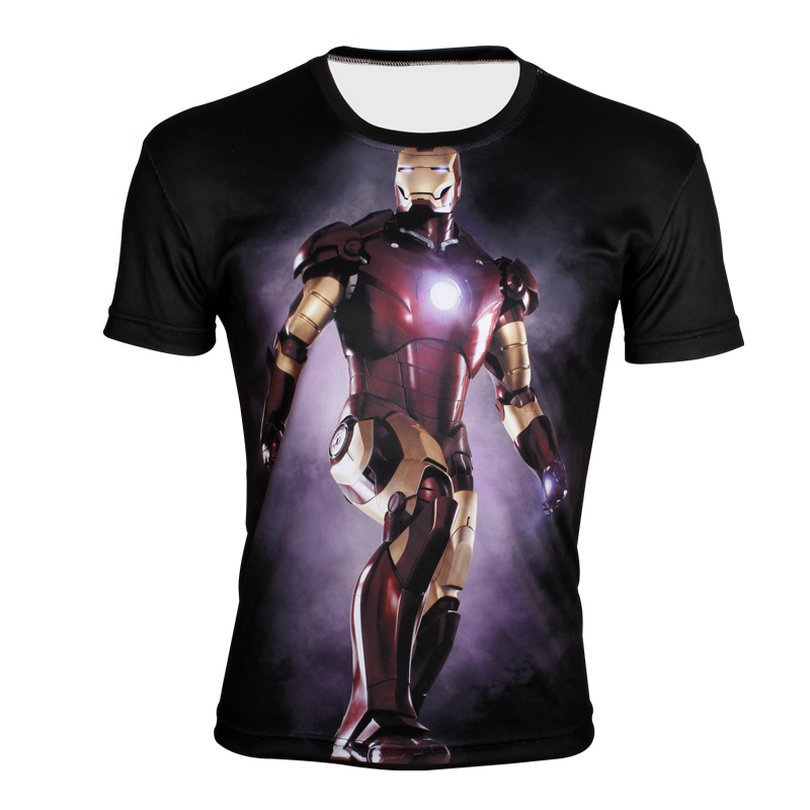 Captain america thor iron man black widow green giant for Iron man shirt for men