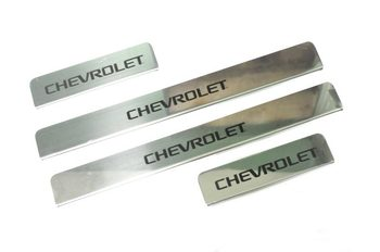 Door sill case for Chevrolet Cruze 4 pcs/set sill plates Stainless Still Car Styling Molding Accessories
