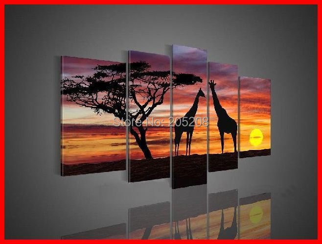 Africa Art Oil Painting On Canvas Wall Picture African Home Decor
