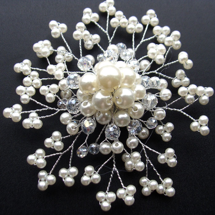 Fashion Crystal Beads Bridal Hair Decoration Pearl Hair Comb Wedding Hair Jewelry Bride Accessories For Wedding Decoration(China (Mainland))