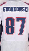 Men's 12 Tom Brady 87 Rob Gronkowski 11 Julian Edelman White Red Blue All Stitched Good(China (Mainland))