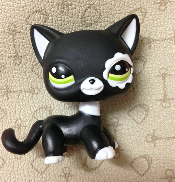 LPS LITTLEST PET Животные Коллекция Рисунок Для Девочек Черный Короткие Волосы Кошка DWA261 #2249