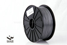 Hot sales!  Metalic Silver color 3d printer filament PLA ABS 1.75mm 3mm 1kg/spool for Makerbot/Reprap/UP/Mendal