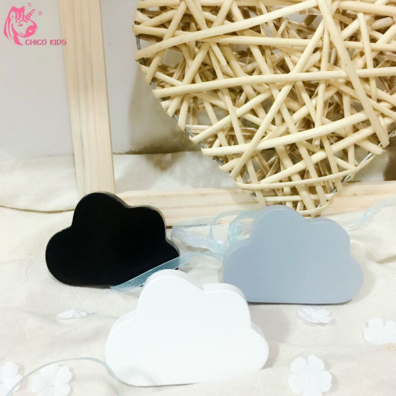 Ins wooden Craft Wooden Cloud Hook On Wall Decorate In Children's Room Newest Cloud Shelf Price For 3pcs Free Shipping By CHICO(China (Mainland))