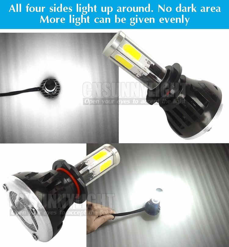 CNSUNNYLIGHT COB LED Headlight Kit H7 H11 H8 9005 HB3 9006 HB4 40W 4000LM Car Head Lamp Fog Light Replacement Bulb Play and Plug (18)