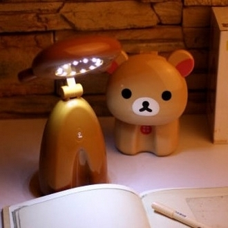 Relaxed the bear lamp led charge touch switch creative night light ofhead reading light