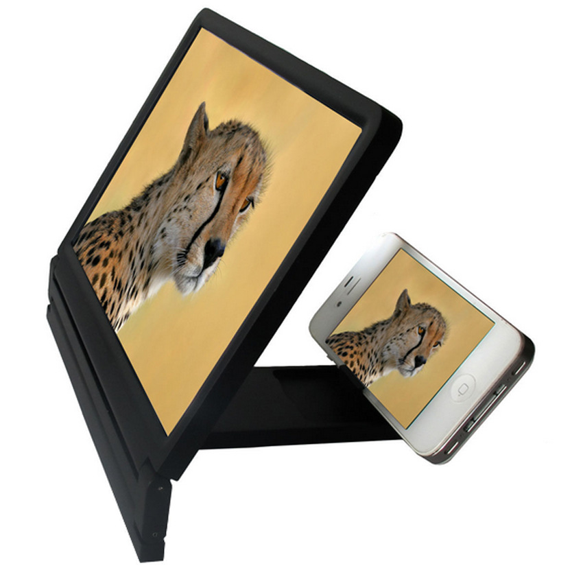 Foldable Portable Mobile Phone Screen Magnifier HD Expander Stand Holder For SmartPhone(China (Mainland))