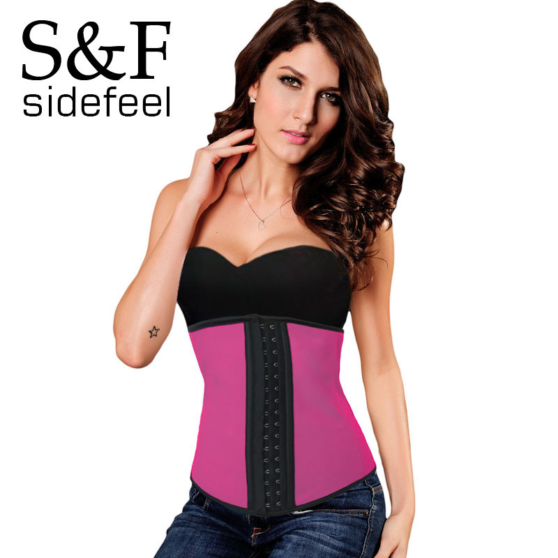 Sidefeel 9 Steel Bones Latex Under Bust Corset sexy women summer style club wear new 2015 gothic steampunk corselet bustier 5375(China (Mainland))