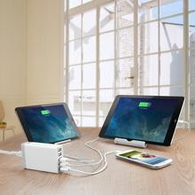 High Quality 5 Ports 5V8A Portable USB Hub US / EU /UK / AU Plug Wall Charger with 1.6 M for For iPhone 5 6 iPad Samsung S6 edge(China (Mainland))