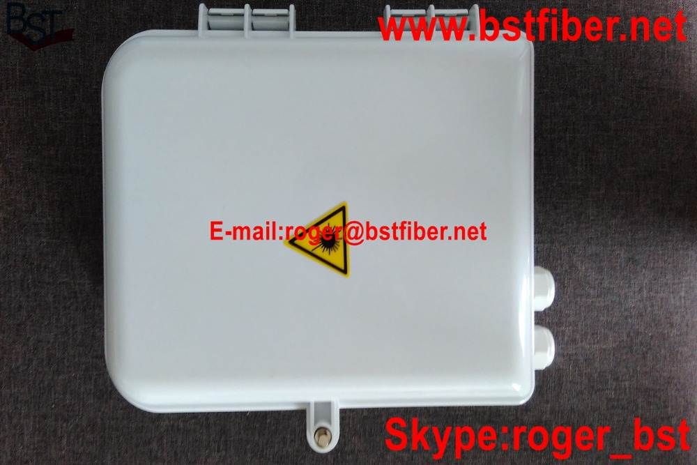 BST company Fiber optic FTTH box,optical fiber ABS box,16 cores FTTH distribution box, For PLC Splitters(China (Mainland))
