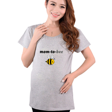 2016 Summer Plus Size Maternity Funny Shirts Mom To Be Pregnancy T Shirt Pregnant Women Tops Tees Clothes Premama Wear Clothing(China (Mainland))