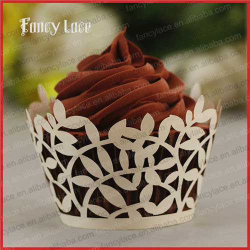 60PCS Newest Christmas Decorations Laser Cutting Paper Cupcake Liners,Decorative Artificial wreath Party Cup Cakes Wrappers(China (Mainland))