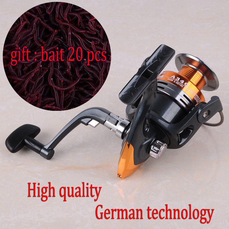 2015Unbelievable! The Best Rock Bass Carp Spinning Fishing Reel Metal + Extra Spool + Reel Cover Spin Fishing Gear Wheel Coil(China (Mainland))