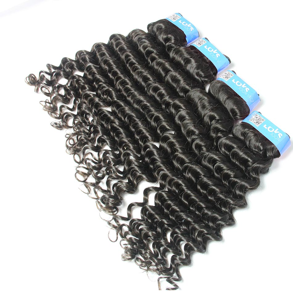 6A Unprocessed Virgin Malaysian Deep Wave Human Hair Weave in Color 1b 4pcs/lot,No Tangle for Years No Shedding,Can be Dyed<br><br>Aliexpress