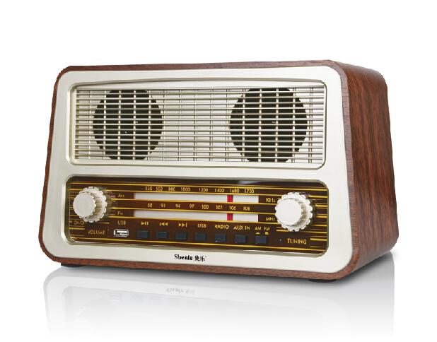 Alysea@ Old Fashioned Vintage K-2213 Radio Full Antique Wool Desktop Radio USB World Band Radio Receiver DHL/EMS(China (Mainland))