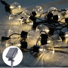 Buy outdoor 20 leds string fairy light 8m solar power globe ball string Christmas light fairy garland wedding garden party decor for $19.98 in AliExpress store