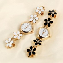1Pcs Newest Gold Daisies Flower Rose Bracelet Wrist Watch for Women Girl Gift Lady Watches