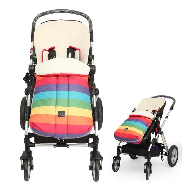 Толстые теплые детская коляска спальный мешок малыши зима коляска молния конверт одеяло малыша оксфорд footmuff для инвалидной коляски