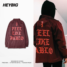 I Feel Like American Musician style Hiphop Jacket men Sports Suit 2016 new arrival HEYBIG Windbreaker Chinese Size M-3XL(China (Mainland))