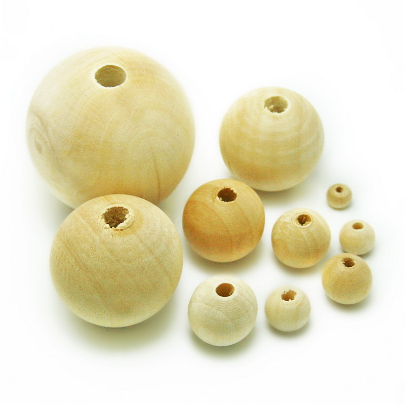 Гаджет  Wholesale Nature Color Wooden Beads Round Wood Spacer Beads 6/8/10/12/14/16/18/25/30/40mm For Fashion Jewelry Making (BTE068) None Ювелирные изделия и часы
