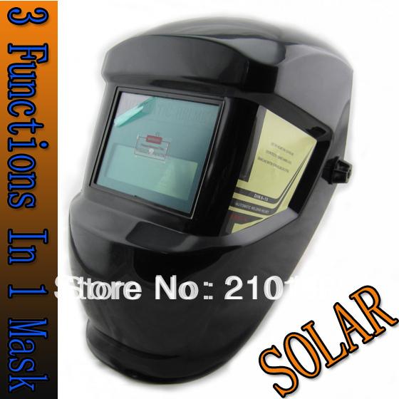 LI Battery solar Auto darkening welding helmet/face mask/Electric welding mask/welder cap for welding machine and plasma cutter(China (Mainland))