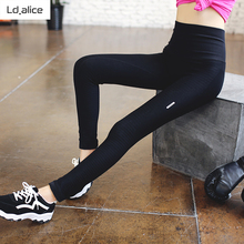 Buy Women High Waist Elastic Yoga Leggings Sexy Pantalon Gym Fitness Yoga Wear Outdoor Running Compression Improve Hip Sports Pants for $13.99 in AliExpress store