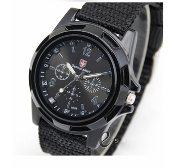 2015 New Fashion Soldier Military Casual Quartz Canvas Strap Fabric Watch Men Outdoor Sports Watches Male CC0020 - Jackie TT Co.,Ltd store