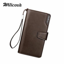 2016 New Fashion Men Wallets Casual Wallet Men Purse Clutch Bag Brand Leather Long Wallet Design Hand Bags For Men Purse DB5715(China (Mainland))