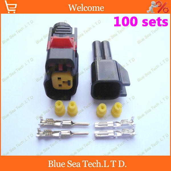 100sets 2pin для масляной форсунки разъем,разъем диктора автомобиля,автомобиль водонепроницаемый электрический разъем наборы для автомобиля эст.