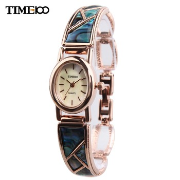 TIME100 Women Bracelet Watch Analog Display Quartz Retro StyleRhinestone Jewelry Clasp Alloy Band Dress Watch relojes de marca