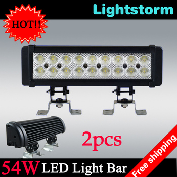hot selling product! 54W LED Light Bar, 4*4 offroad light led work light! toyota corolla fog light, ford focus 3 headlight