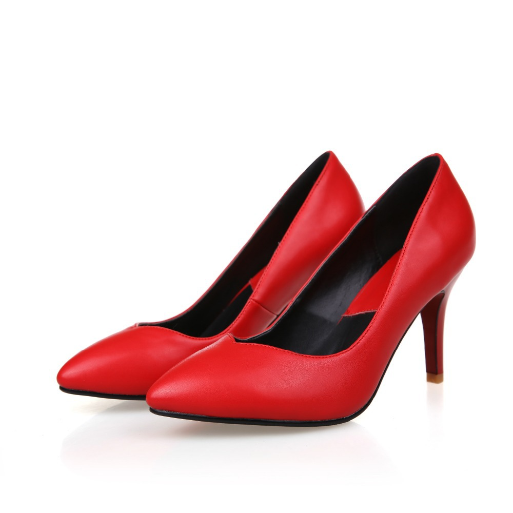 Red Shoes 3 Inch Heel | Tsaa Heel