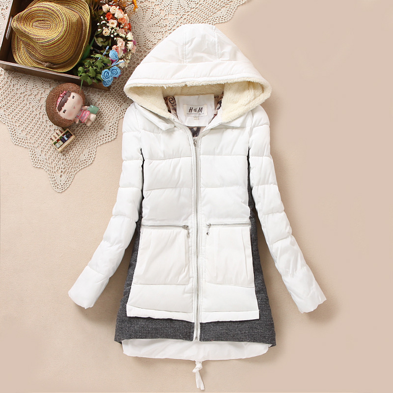 New 2014 brand Winter women's fashion down jackets and coats female thick outerwear fur collar parkas women clothing WZ-85D
