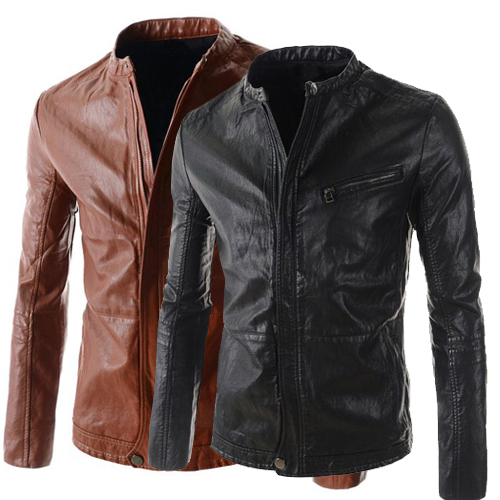 Cheap Brown Leather Jackets Promotion-Shop for Promotional Cheap