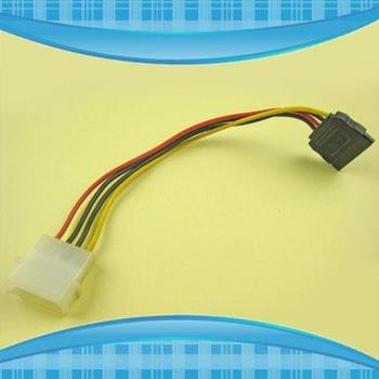 10pcs/lot 4 PIN IDE TO 15 PIN SATA HDD POWER CONVERTER CABLE 9780